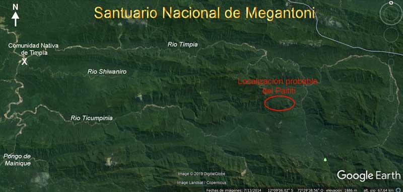 Localisation probable de la cité de Païtiti... et des recherches actuelles de Thierry Jamin.