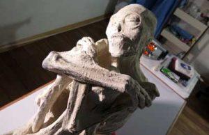 """Uno de los cuerpos momificados, de typo """"híbrido"""", encontrado en la región de Nasca. (c) Thierry Jamin, mai 2017."""